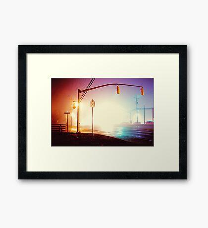 Foggy Night Framed Print