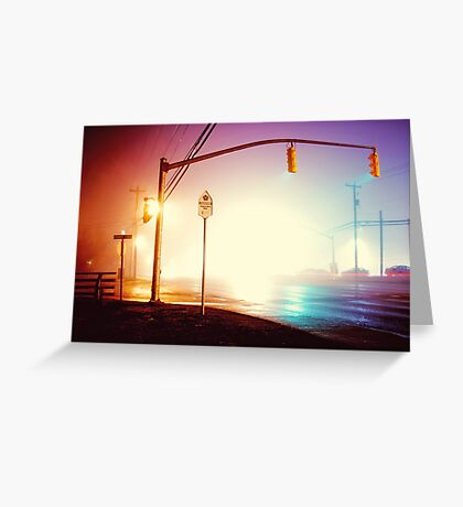 Foggy Night Greeting Card