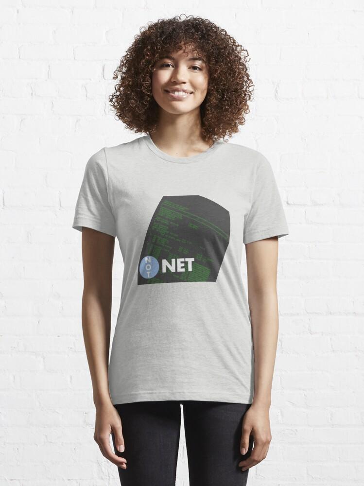 Alternate view of Not Dot Net Essential T-Shirt