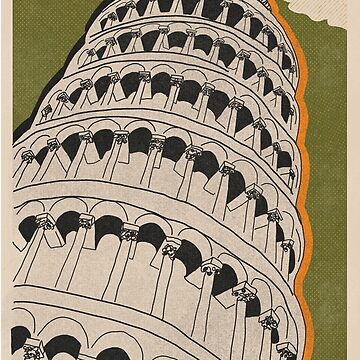 Pisa, Italy Travel Poster by Citygurl