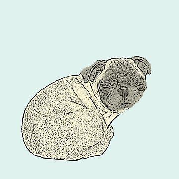 Sleeping Pug by nightjoy
