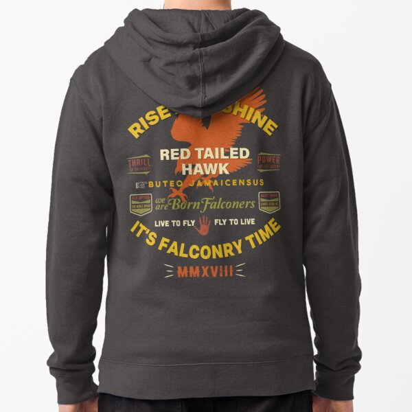 It's Falconry Time! Red Tail Hawk II for Falconers Zipped Hoodie