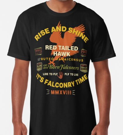 It's Falconry Time! Red Tail Hawk II for Falconers Long T-Shirt