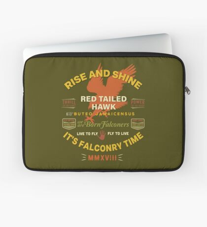 It's Falconry Time! Red Tail Hawk II for Falconers Laptop Sleeve