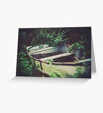 The wood that pined for the ocean. Greeting Card