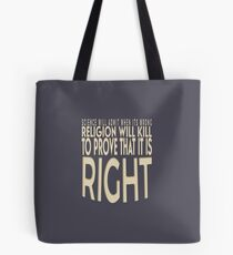 Atheist Science Will Admit When Its Wrong Tee Shirt Tote Bag