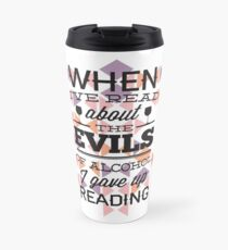 Funny Love Reading Argyle  Travel Mug