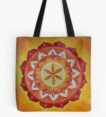 Orange and Yellow Mandala Tote Bag