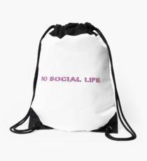 no social life Drawstring Bag