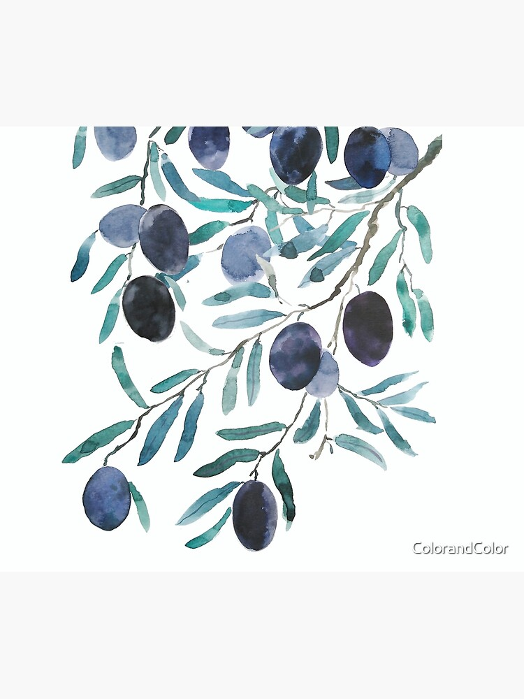 black olive watercolor  by ColorandColor