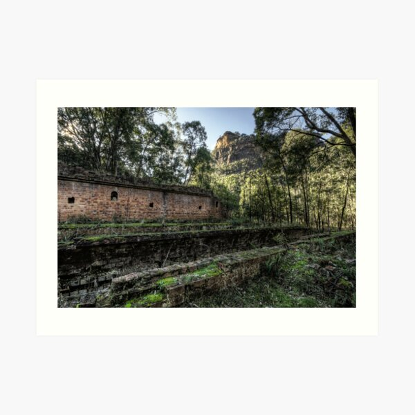 Sandstone Cliffs and Ruins - Newnes - Wollemi National Park, NSW Art Print
