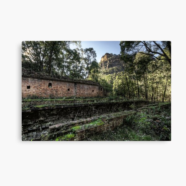 Sandstone Cliffs and Ruins - Newnes - Wollemi National Park, NSW Canvas Print