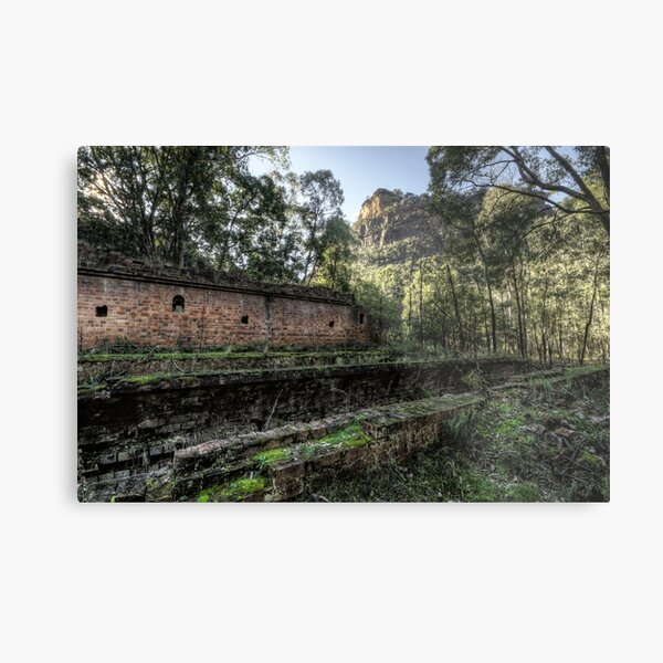 Sandstone Cliffs and Ruins - Newnes - Wollemi National Park, NSW Metal Print