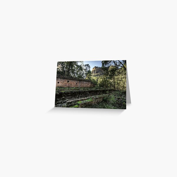 Sandstone Cliffs and Ruins - Newnes - Wollemi National Park, NSW Greeting Card