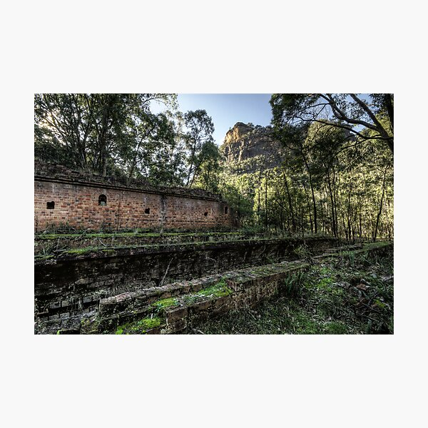 Sandstone Cliffs and Ruins - Newnes - Wollemi National Park, NSW Photographic Print