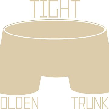Tight Golden Trunks by FuzzCanyon