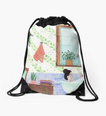 Morning Bath Drawstring Bag