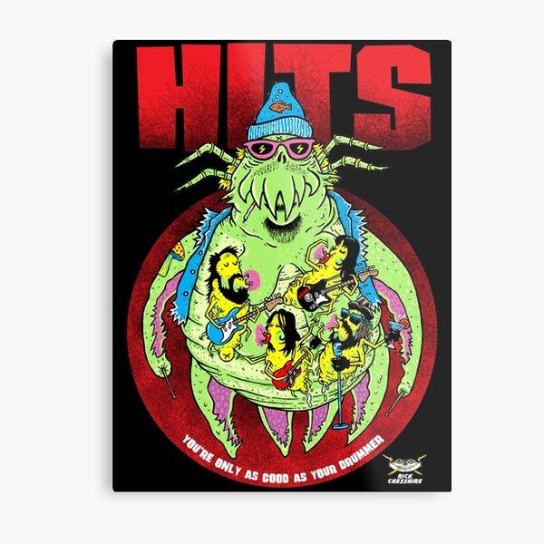 HITS - Crabsody in Blue Metal Print