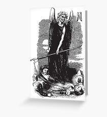 1864 Death Holding a Scythe (Black) Greeting Card