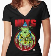 HITS - Crabsody in Blue Women's Fitted V-Neck T-Shirt