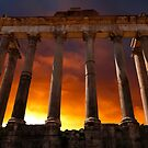 Temple of Saturn Ruins by John Wallace