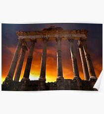 Temple of Saturn Ruins Poster