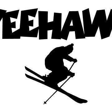 YEEHAW! Winter Sports Ski Skiing Skier by theshirtshops