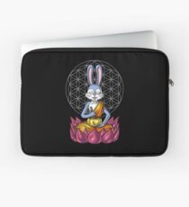 Rabbit Buddha Zen Yoga Meditation Bunny Flower Of Life Laptop Sleeve