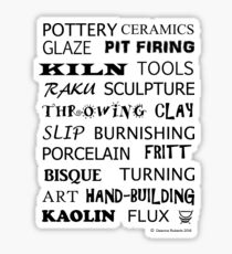 POTTERY GLOSSARY T-SHIRT Sticker