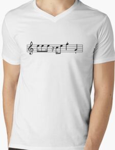 Mario Sheet Music Mens V-Neck T-Shirt