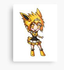 Jolteon Magical Girl Chibi Metal Print
