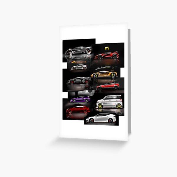 Cars - Super Cars Greeting Card