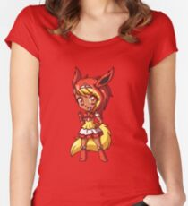 Flareon Magical Girl Chibi Women's Fitted Scoop T-Shirt