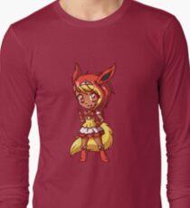 Flareon Magical Girl Chibi Long Sleeve T-Shirt