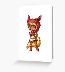 Flareon Magical Girl Chibi Greeting Card