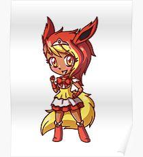 Flareon Magical Girl Chibi Poster