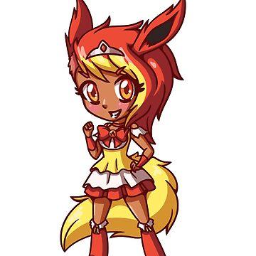 Flareon Magical Girl Chibi by LankySandwich