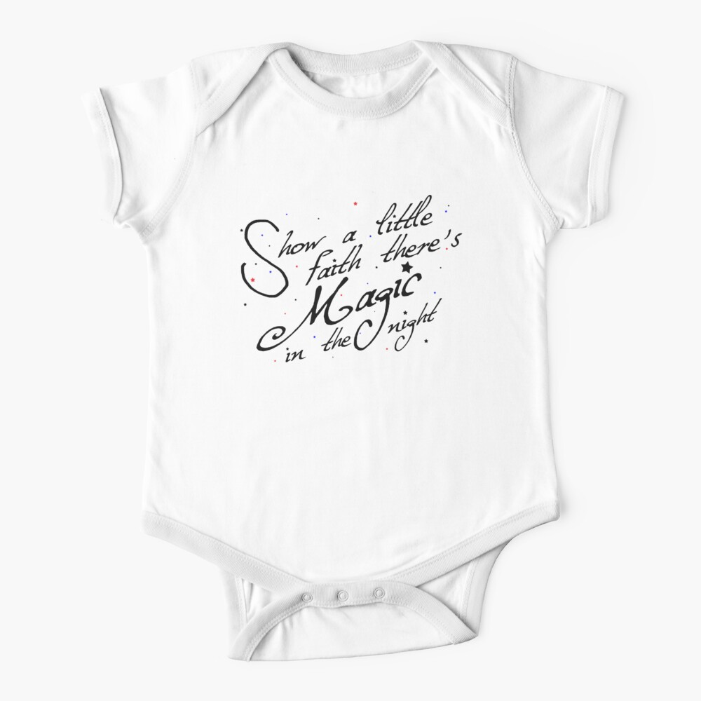 Magic in the night - black text Baby One-Piece