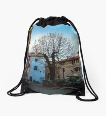Springtime in the croatian countryside Drawstring Bag