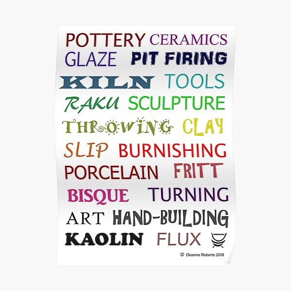 Pottery Glossary (Multicoloured) Poster