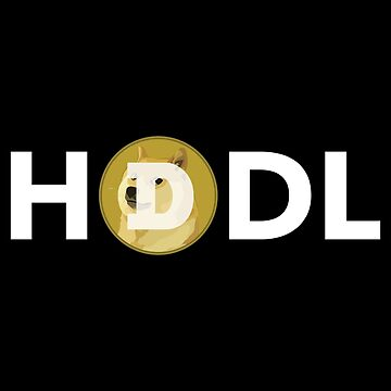 HODL Dogecoin Cryptocurrency by cryptees