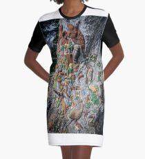 The Fairies Tree - Fitzroy Gardens Graphic T-Shirt Dress