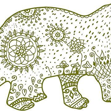 Dinosaurio Mandala de Manitarka