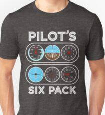 Pilot's six pack - Funny Pilot Gift Unisex T-Shirt