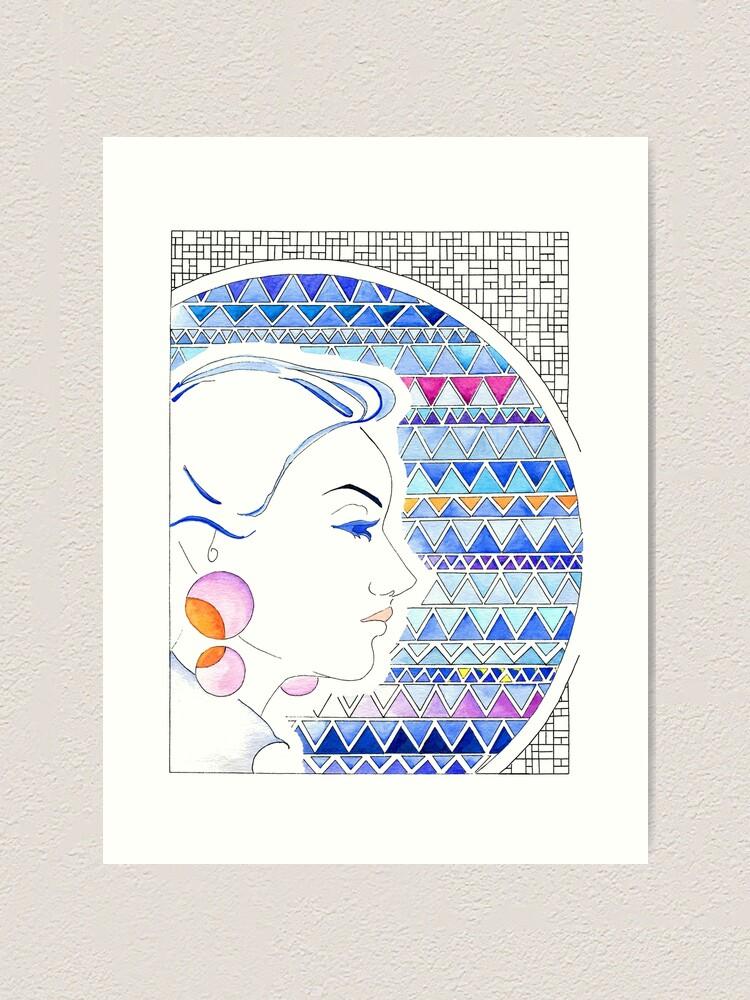 Alternative Ansicht von Mädchen mit Ohrringen - Girl with earrings Kunstdruck