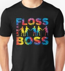Floss wie ein Chef Tie Dye Slim Fit T-Shirt