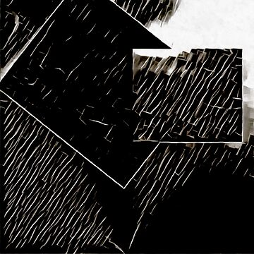 Shapes in Abstract Cracked Black and White by ShannathShima