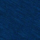 Classic denim blue jeans fabric with yellow stitches  by Mike Suszycki