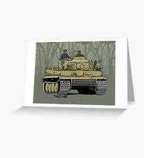 The Dogs of War: Tiger Tank Greeting Card