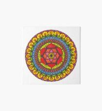 Floral Mandala - Red Rose Art Board
